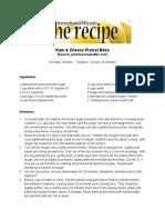 Ham Cheese Pretzel Bites Recipe