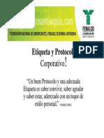 Etiqueta y Protocolo Corporativo