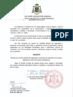 Decreto y Normas Básicas de Seguridad y Protocolo de Actuación Ante Robos y Agresiones Contra Los Bienes Eclesiásticos