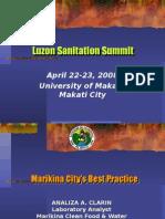 Sanitation Initiatives of Marikina City by Albert Herrera