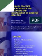 Diabetes Mellitus CPG