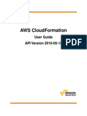 AWS Cloudformation User Guide | Amazon Web Services | Parameter