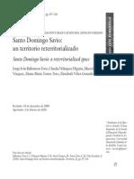 SANTO DOMINGO SAVIO Territorio Desterritorializado