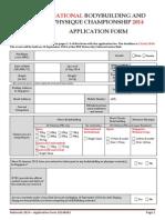 BODYBUILDING SINGAPORE Nationals2014 ApplicationForm