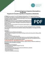 3 Programa detallado de la formacion en Acupuntura Bioenerg+®tica y Moxibusti+¦n