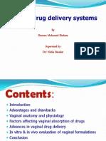 Vaginal Drug Delivery