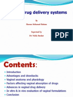 Vaginal Drug Delivery