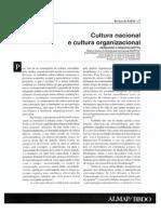 Cultura Nacional e Cultura Organizacional Un II