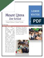 Lemon Water Making Activity