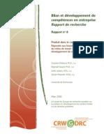 Rapport 6 Bilan Rapport de Recherche Partie 1