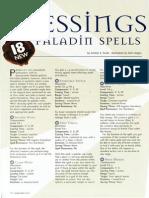 D&D 3E - Dragon Magazine - Paladin Blessings