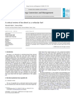 A Critical Review of Bio-diesel as a Vehicular Fuel
