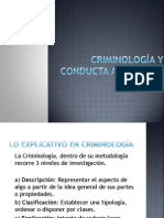 Criminología y Conducta Antisocial