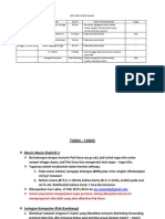 Info Dan Tugas 10 - 11 Mei 2014