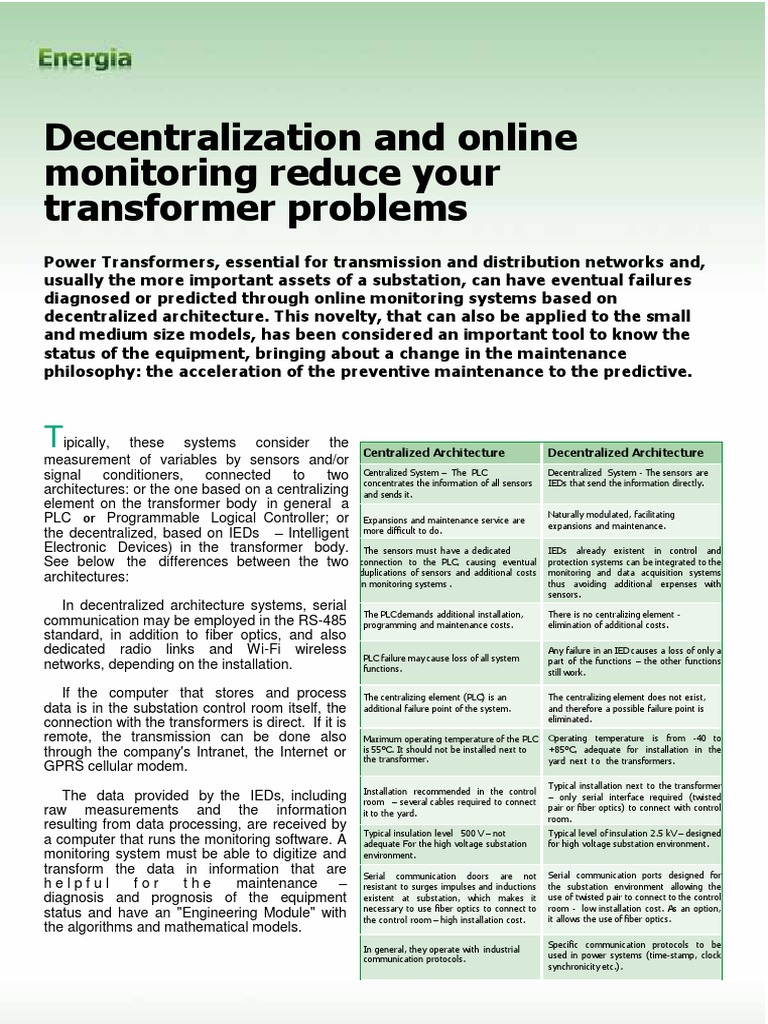 Decentralisation and Online Monitoring Reduce Your