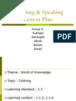 Listening & Speaking Lesson Plan