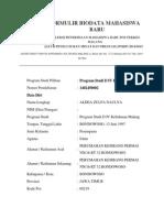 Formulir Biodata Mahasiswa