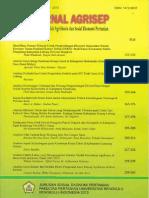 Agrisep 12(2)_Analisis Keuntungan Usahatani Dan Peluang Pengembangan Tanaman Pangan