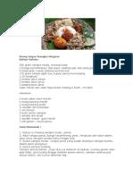 Resep Sayur Nangka Megono
