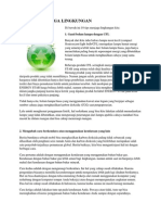 10 Cara Menjaga Lingkungan