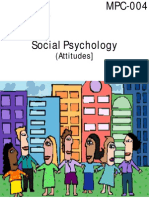 IGNOU Social Psychology (Attitudes) (MPC-004)
