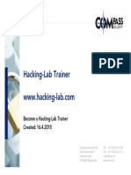 Hacking Lab Trainer Presentation