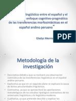 30. Contacto Linguistico Entre El Español y El Quechua (Metodología)
