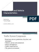 Lecture 2- Road User and Vehicle Characteristics