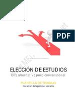 9. Plantilla Elección Estudios Alternativa