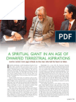 A Spiritual Giant in an Age of Dwarfed Terrestrial Aspirations