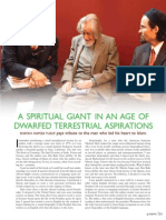 A Spiritual Giant in an Age of Dwarfed Terrestrial Aspirations