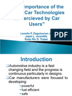The importance of latest car technologies as perceived by car users