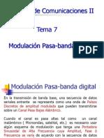 Curso de Comunicaciones II Tema 7 - Modulacion Pasa Banda 15 de Oct 2013 (1)