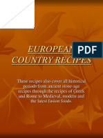 European Country Recipes