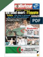 LE BUTEUR PDF du 19/11/2009