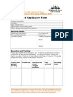 Example Job Application Form NEW
