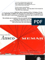 Ansco Memar manual