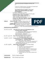 Fahmidas Resume