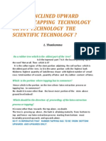 Why is Inclined Upward Rubber Tapping Technology or Iut Technology The Scientific Technology