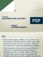SQL Programiranje