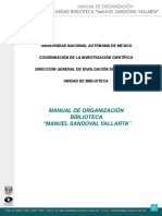 Manual Organizacion Biblioteca