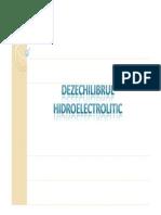 DEZECHILIBRUL HIDROELECTROLITIC