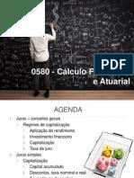 0580 - Cálculo Financeiro e Actuarial