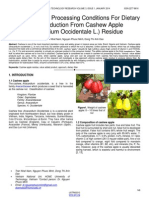 Investigation of Processing Conditions for Dietary Fiber Production From Cashew Apple Anacardium Occidentale L Residue