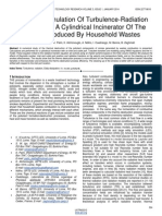 Numerical Simulation of Turbulence Radiation Interaction in a Cylindrical Incinerator of the Smokes Produced by Household Wastes