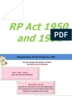 RP Act 1950 and 1951