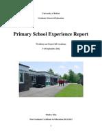 Primary School Report