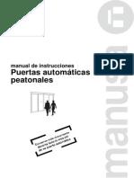 D00061ES-Manual de Instrucciones Puertas Manusa Versión UNE 85121 EX Español