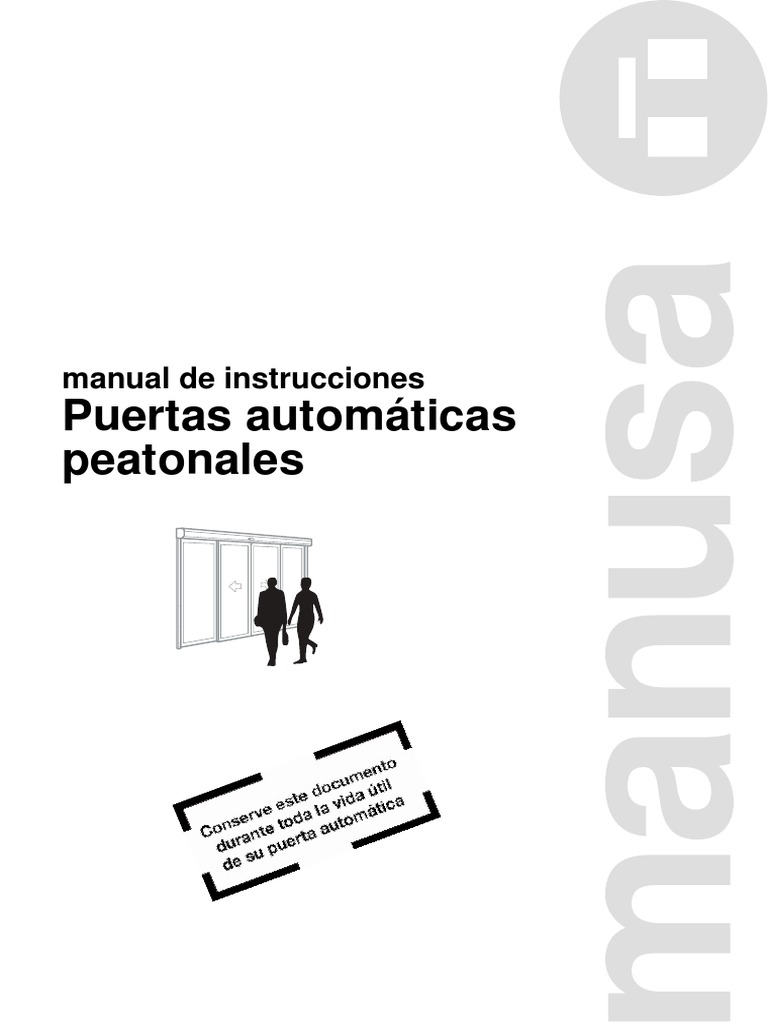 D00061ES-Manual de Instrucciones Puertas Manusa Versión