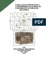 Diseño de Mallas de Perforación y Voladura Subterránea Aplicando Un Modelo Matematico de Areas de Influencia